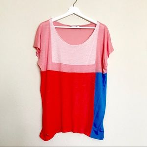 Lacoste Color Block Tee T-Shirt (Size 46)